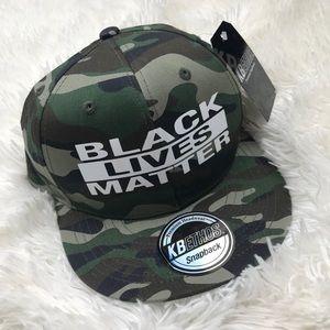 NWT KBETHOS SNAPBACK Camo BLM hat